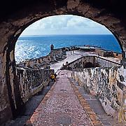 El Morro fort detail..San Juan, Puerto Rico