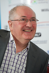 LIVERPOOL, ENGLAND - Wednesday, April 18, 2012: BBC Radio Merseyside's Alan Jackson during a press conference to launch of the 2012 Liverpool International Tennis Tournament at the Hilton Hotel. (Pic by David Rawcliffe/Propaganda)