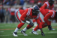 Mississippi defensive end Cameron Whigham (55) vs. Arkansas at Vaught-Hemingway Stadium in Oxford, Miss. on Saturday, November 9, 2013. Mississippi won 34-24. (AP Photo/Oxford Eagle, Bruce Newman)