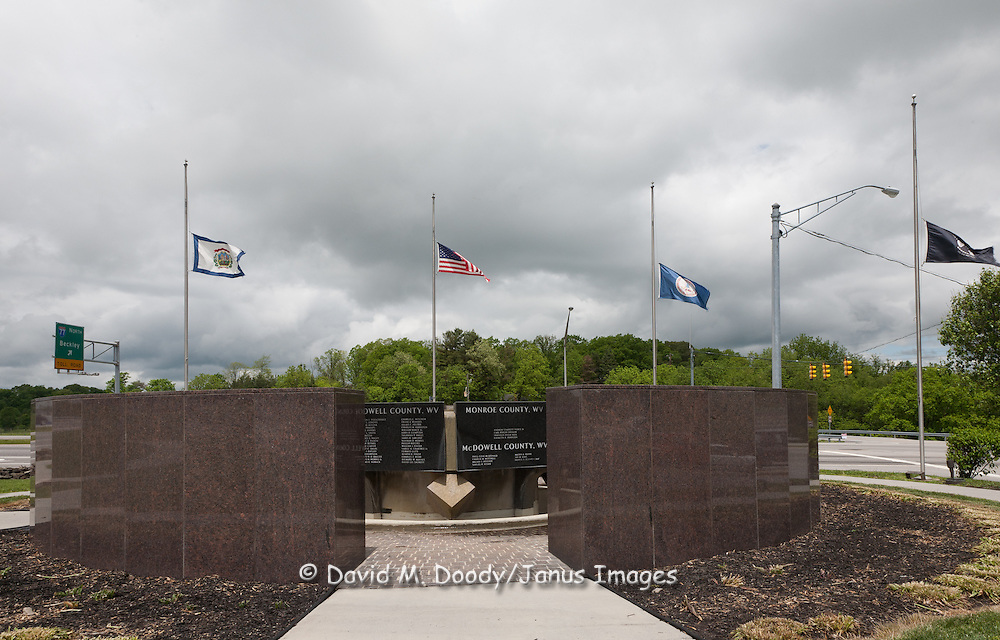 Memorial to West Virginia miners, Princeton, WV. West Virginia May 2011