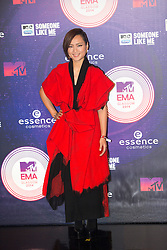 Bibi Zhou. Red carpets arrivals at the MTV EMA's 2014 at The Hydro on November 9, 2014 in Glasgow, Scotland.