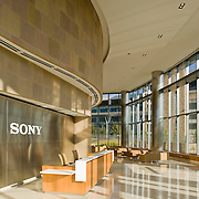 Sony's Southern California headquarters are northeast of San Diego, California in the rolling hills near Escondido. Carrier Johnson's elegant design is a visually rewarding mix of grandeur and intimacy, scale and detail.