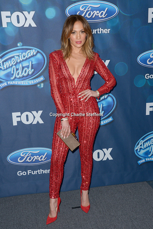 Jennifer Lopez attends the American Idol Finalists Party on February 25, 2016, at The London Hotel West Hollywood in West Hollywood, California. (Photo: Charlie Steffens/Gnarlyfotos)
