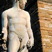 Statue near Florence's Pallazzo Vecchio