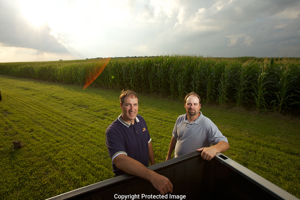 (Left to Right)Steve and Tim Reinhard on their farm in Bucyrus, Ohio..The Reinhard Farm in Bucyrus, Ohio.