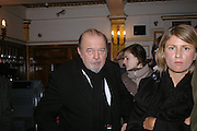 Sir Peter Hall. Whose Life is it Anyway? opening night performance at Comedy Theatre, Panton Street followed by Party at Mint Leaf. London. 26 January 2005. ONE TIME USE ONLY - DO NOT ARCHIVE  © Copyright Photograph by Dafydd Jones 66 Stockwell Park Rd. London SW9 0DA Tel 020 7733 0108 www.dafjones.com