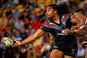 Bunty Afoa. Auckland Warriors v St George Dragons. NRL Rugby League.Magic Round 2019 Suncorp Stadium, Brisbane, New Zealand. May 11, 2019. © Copyright photo: Patrick Hamilton / www.photosport.nz
