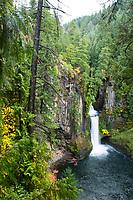 Tokatee Falls. North Umpqua River. Cascade Mountains, Oregon.