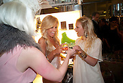 KELLY WINDSOR; ANNA SVENSSON, Wolf & Badger - pop-up store launch party. Wonder Room, Selfridges, 13 August 2010. -DO NOT ARCHIVE-© Copyright Photograph by Dafydd Jones. 248 Clapham Rd. London SW9 0PZ. Tel 0207 820 0771. www.dafjones.com.