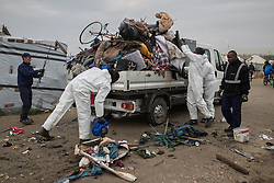 October 24, 2016 - Calais, Calais, France - Calais , France . Clearance of the Jungle migrant camp in Calais , Northern France , underway , on the day of a planned eviction and start of the destruction of the camp  (Credit Image: © Joel Goodman/London News Pictures via ZUMA Wire)