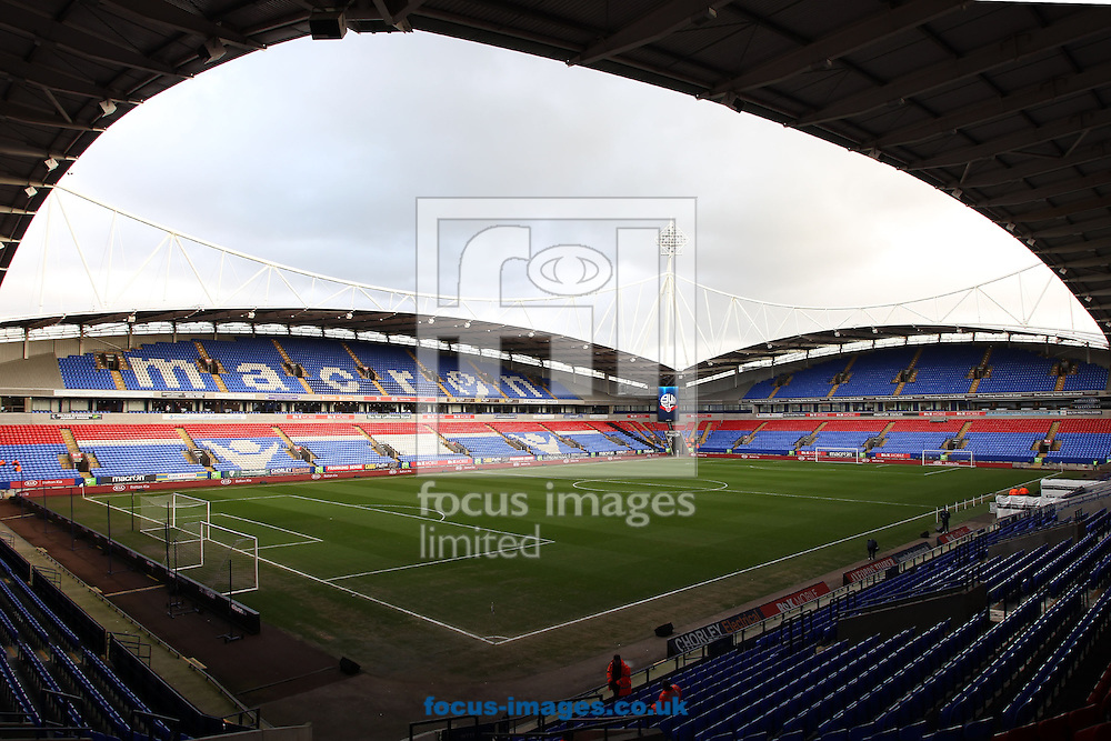 General view of Macron Stadium prior to the FA Cup match between Leeds United, Bolton.<br /> Picture by Michael Sedgwick/Focus Images Ltd +44 7900 363072<br /> 30/01/2016