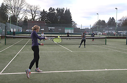 Dunblane Tennis Club in Andy Murray's home town, he has said he is aiming to end his career after Wimbledon but the Australian Open may be his last tournament.