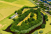 Nederland, Utrecht, Abcoude, 29-06-2018; Fort aan de Winkel, Winkeldijk. Onvoltooid fort, onderdeel Stelling van Amsterdam, nabij Vinkenveense Plassen.<br /> Fort at the Winkel, Winkeldijk. Unfinished fort, part of Stelling van Amsterdam, near Vinkenveense Plassen.<br /> <br /> luchtfoto (toeslag op standard tarieven);<br /> aerial photo (additional fee required);<br /> copyright foto/photo Siebe Swart