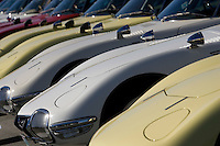 MONTEREY, CA - AUGUST 18:  Dozens of 1967 Toyota 2000 GT's are seen on display at the Monterey Historic Automobile Races at the Mazda Raceway Laguna Seca on August 18, 2007 in Monterey, California.  (Photo by David Paul Morris)