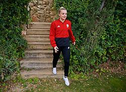 ALHAURÍN EL GRANDE, SPAIN - TUESDAY, MARCH 5, 2019: Wales' Kylie Nolan during a pre-match team walk at the at Alhaurin Golf Resort in Spain. (Pic by David Rawcliffe/Propaganda)