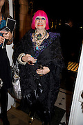 ZANDRA RHODES, The Launch of the Lanvin store on Mount St. Presentation and cocktails.  London. 26 March 2009
