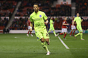 Brighton defender, full back, Liam Rosenior (23)  during the Sky Bet Championship match between Nottingham Forest and Brighton and Hove Albion at the City Ground, Nottingham, England on 11 April 2016. Photo by Simon Davies.