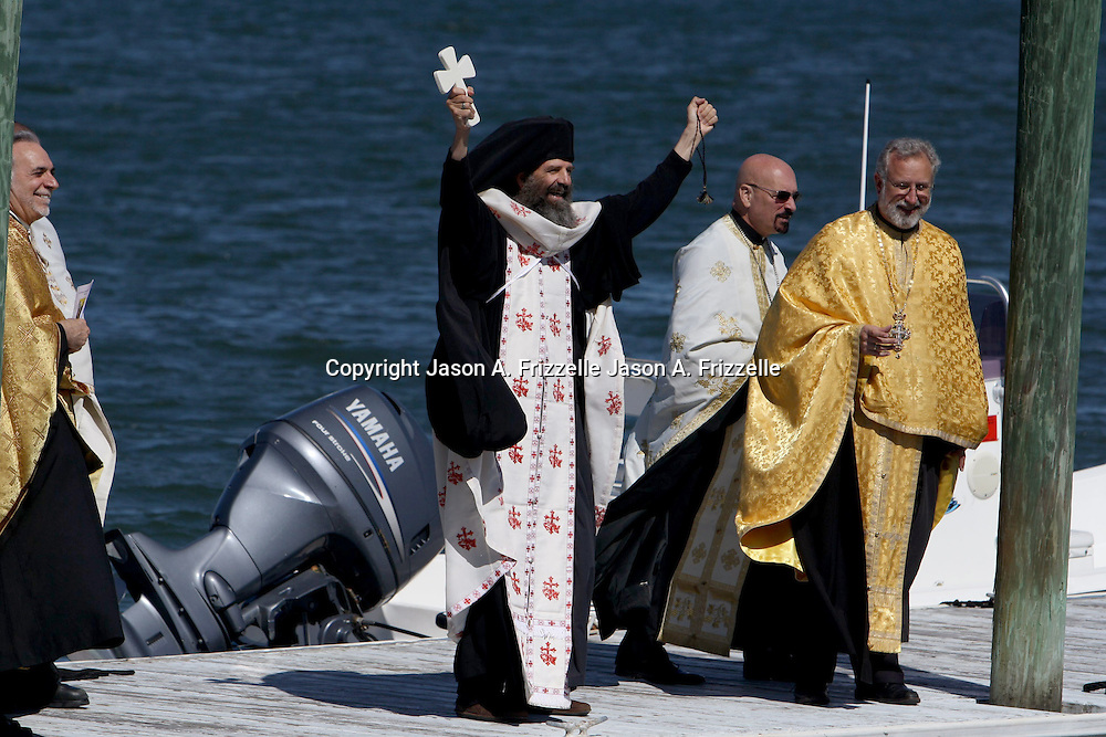 St. Nicholas Greek Orthodox Church hosted it's 2013 Blessing of the Water and Cross Dive on Saturday September 28, 2013. During this worldwide Greek Orthodox tradition the parish priest blesses the waters and throws a cross for young members of the church to dive for, the youth that retrieves the cross is blessed for the whole year.