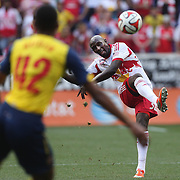 Ibrahim Sekagya, New York Red Bulls, in action during the New York Red Bulls Vs Arsenal FC,  friendly football match for the New York Cup at Red Bull Arena, Harrison, New Jersey. USA. 26h July 2014. Photo Tim Clayton