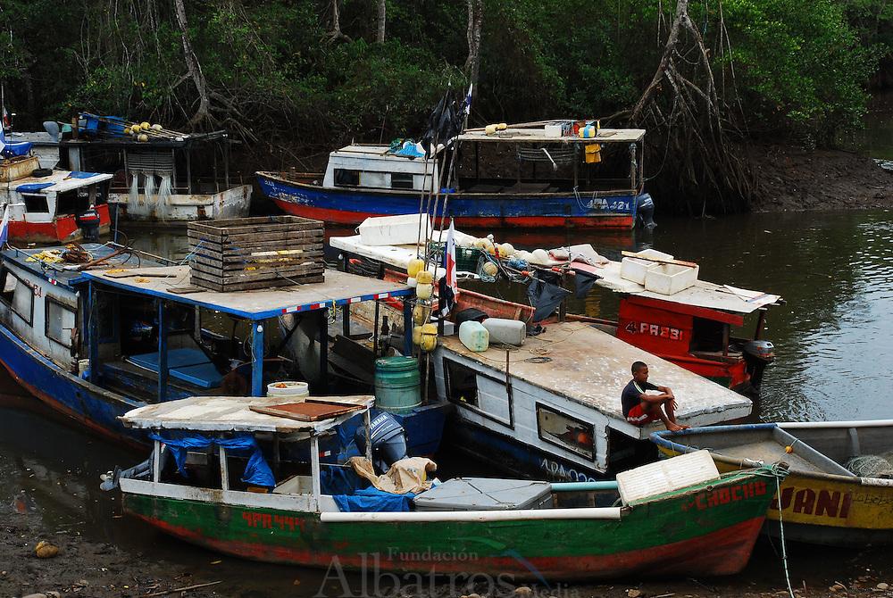 Pesca en el Puerto de Remedios. Chiriqu&iacute;, Panam&aacute;.<br /> <br /> &copy; Alejandro Balaguer/ Fundaci&oacute;n Albatros Media.