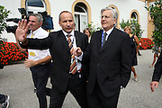 Jean-Claude Trichet, President of European Central Bank ( BCE ), doesn't want release declaration at Ambrosetti Workshop in Cernobbio, September 3, 2011. © Carlo Cerchioli