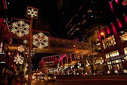 North America, United States, Washington, Bellevue, Snowflake Lane holiday celebration in downtown Bellevue