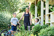 Shannon Spake finds time to connect with her two boys, Brady and Liam, despite her demanding schedule as a Fox Sports broadcaster and a regimented training schedule for her upcoming Ironman races.