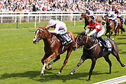 ROYAL INTERVENTION (15) ridden by Paul Hanagan and trained by Ed Walker winning The Group 3 William Hill Summer Stakes over 6f (£65,000)   during the John Smiths Cup Meeting at York Racecourse, York, United Kingdom on 12 July 2019.