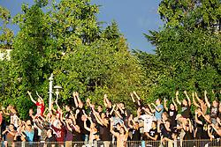 Terror Boys, fans of Gorica during football match between ND Gorica and NK Olimpija Ljubljana in Round #10 of Prva liga Telekom Slovenije 2015/16, on September 19, 2015, in Sports park Gorica, Nova Gorica, Slovenia. Photo by Vid Ponikvar / Sportida