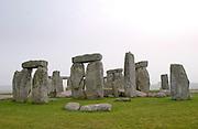 The famous stone circle at Stonehenge, England