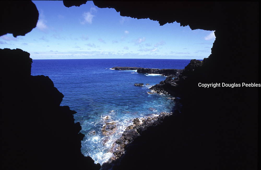 Carvern of Two Windows, Easter Island, Chile<br />
