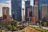 Calgary Tower, Downtown Calgary & Centre Street Bridge