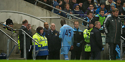 11.01.2012, Etihad Stadion, Manchester, ENG, Carling Cup, Manchester City vs FC Liverpool, Halbfinale, im Bild Manchester City's Mario Balotelli walks off the pitch being substituted during the football match of English Carling Cup, Halffinal, between Manchester City and FC Liverpool at Etihad Stadium, Manchester, United Kingdom on 2012/01/11. EXPA Pictures © 2012, PhotoCredit: EXPA/ Propagandaphoto/ David Rawcliff..***** ATTENTION - OUT OF ENG, GBR, UK *****