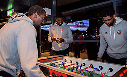 Bristol Flyers players play on the table football in the Sports Bar at Ashton Gate - Mandatory by-line: Robbie Stephenson/JMP - 12/09/2016 - BASKETBALL - Ashton Gate Stadium - Bristol, England - Bristol Flyers Sponsors Event