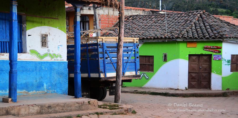 Street corner in Samaipata, Santa Cruz, Bolivia
