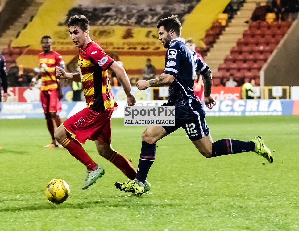 Ross County's Richard Foster tries to stop Partick Thistle's Callum Booth during the Partick Thistle FC V Ross County FC Ladbrokes Scottish Premiership game played at Firhill Stadium, Glasgow on 19th December 2015; (c) BERNIE CLARK | SportPix.org.uk