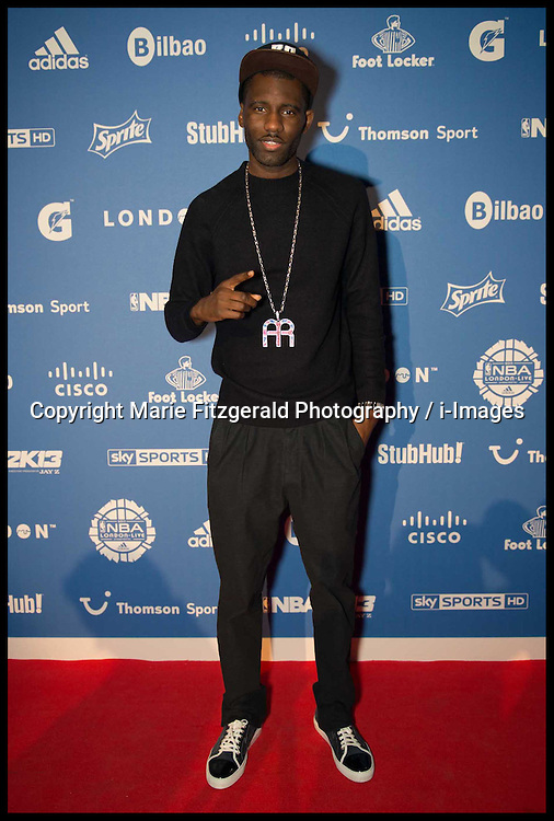 Wrech 32, musician attends The NBA London Live Party at Shoreditch House, London, Wednesday January 17, 2013. Photo By Marie Fitzgerald Photography / i-Images
