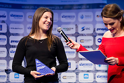 Lin Pletikos at ceremony of Slovenia Sailing Federation for best Sailor in 2017, on February 7, 2018 in Ljubljana castle, Ljubljana, Slovenia. Photo by Urban Urbanc / Sportida