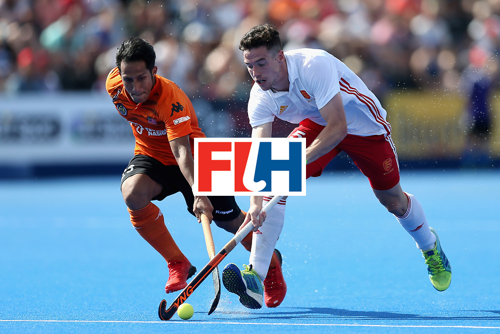 LONDON, ENGLAND - JUNE 17: Phil Roper of England in action during the Hero Hockey World League Semi Final match between England and Malaysia at Lee Valley Hockey and Tennis Centre on June 17, 2017 in London, England.  (Photo by Alex Morton/Getty Images)