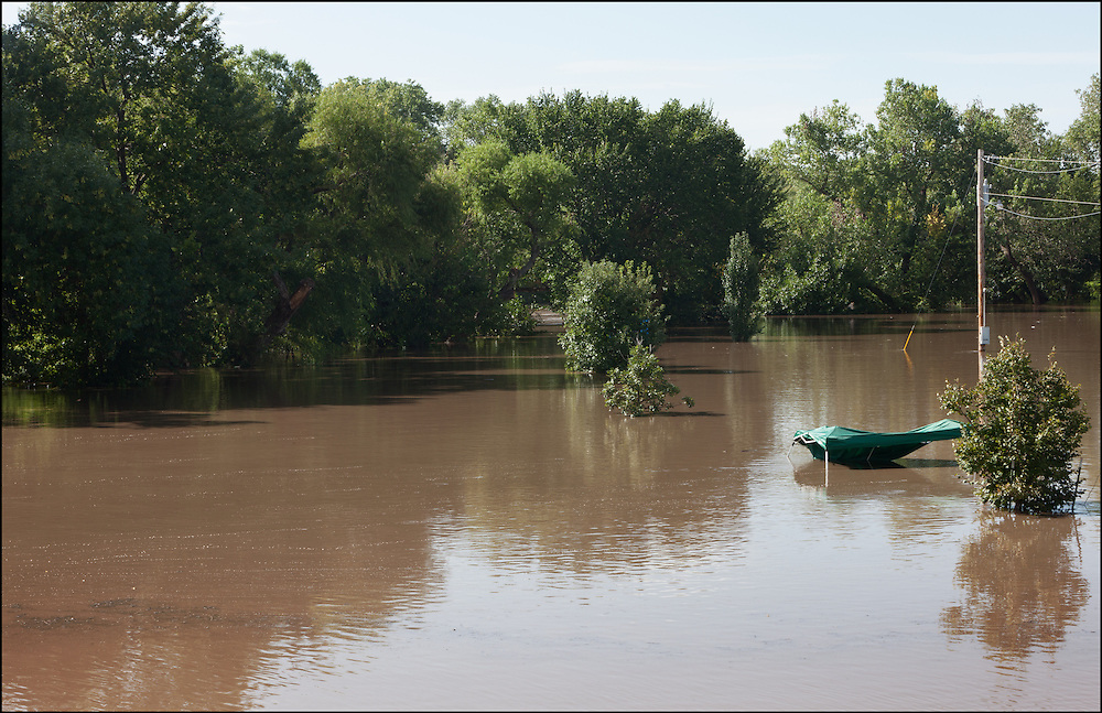Heavy rains caused flooding along the Walnut River which evacuated campers that were attending the Blue Grass Festival at the camp grounds.
