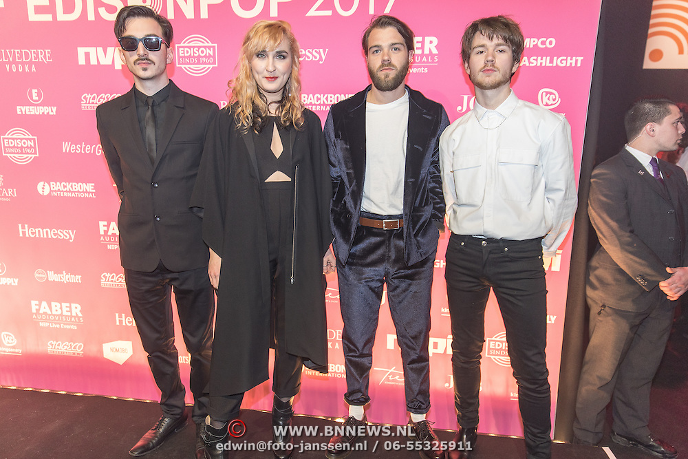 NLD/Amsterdam/201702013- Edison Pop Awards 2017, Band Indian Askin