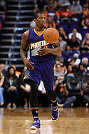Oct 16, 2014; Phoenix, AZ, USA; Phoenix Suns guard Eric Bledsoe (2) handles the ball against the San Antonio Spurs in the first half at US Airways Center. Mandatory Credit: Jennifer Stewart-USA TODAY Sports