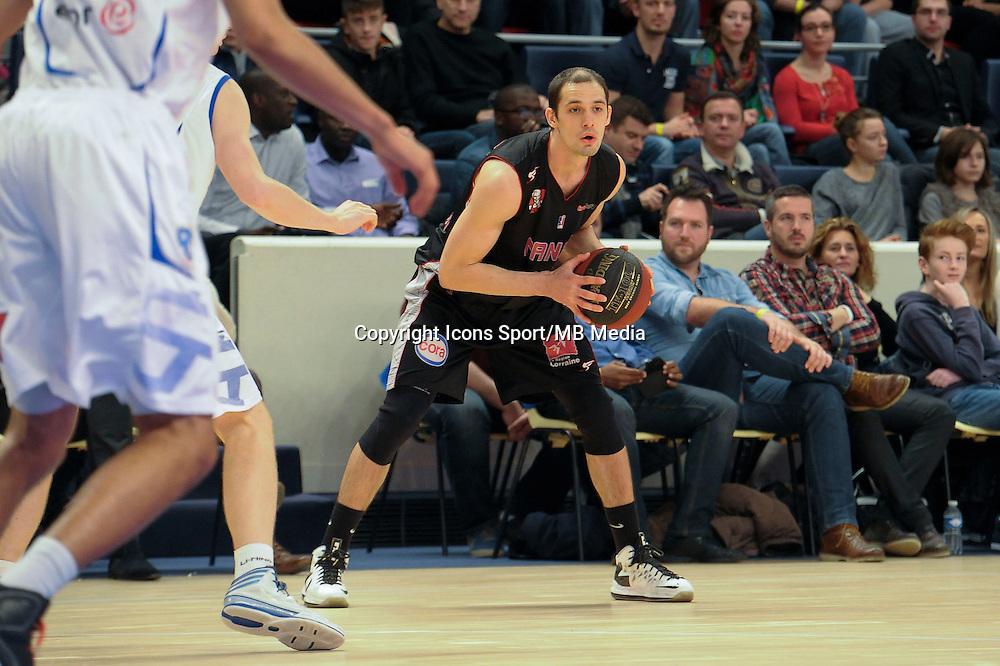 Sergii Gladyr - 27.12.2014 - Paris Levallois / Nancy - 15eme journee de Pro A<br />Photo : Andre Ferreira / Icon Sport