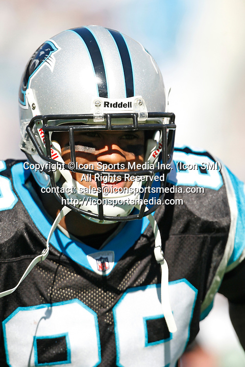 15 November 2009: Carolina Panthers wide receiver Steve Smith (89) is introduced in the Carolina Panthers 28-19 victory over the Atlanta Falcons at Bank of America Stadium in Charlotte North Carolina.