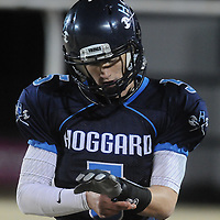 Austin Schoenleber check for plays Friday November 21, 2014 at Hoggard High School in Wilmington, N.C. (Jason A. Frizzelle)