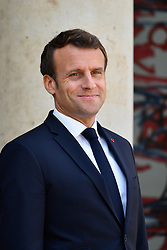 May 3, 2019 - Paris, Ile-de-France (region, France - Interview of President Emmanuel Macron and Iraqi Prime Minister Adel Abdel Madhi at the Palais de l'Elysee on 03 MAY 2019 (Credit Image: © Julien Mattia/Le Pictorium Agency via ZUMA Press)