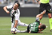 Cristiano Ronaldo Juventus  Domenico Berardi Sassuolo <br /> Torino 16-09-2018 Allianz Stadium Football Calcio Serie A 2018/2019 Juventus - Sassuolo <br /> Foto Andrea Staccioli / Insidefoto