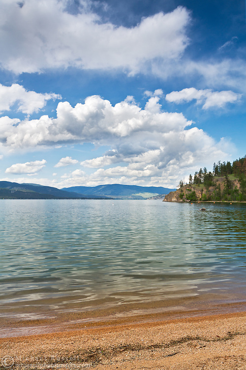 Otter Bay Beach at Okanagan Lake in Ellison Provincial Park in Vernon, British Columbia, Canada