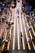 Crosswalks Queens Road, Central, Hong Kong.