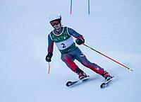 Giant Slalom race at Gunstock.  ©2020 Karen Bobotas Photographer